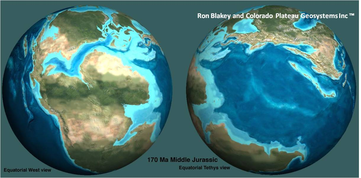 The jurassic sepm paleogeographic reconstructions of continents and seas throughout the early middle and late jurassic periods used with permission of ron blakey gumiabroncs Image collections