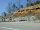 Mississippian Newman Formation South of Morehead on Rt 801 Eastern Kentucky with overlying Pensylvanian deltaics