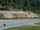 Silurian, Bisher Formation at Herron overlain by Devonian Ohio Shale. Bisher is high energy shallow water carbonate