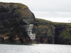 Upper Clare Shale of the Upper Carboniferous (Namurian) exposed in the cliffs west and down below Bromore West of Co Kerry. These outcrops are just north of Ballybunion. The shales represent a change in the depositional setting from the underlying Dinantian carbonates.