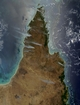 Australia Great Barrier Reef: photographic image from outer space by NASA