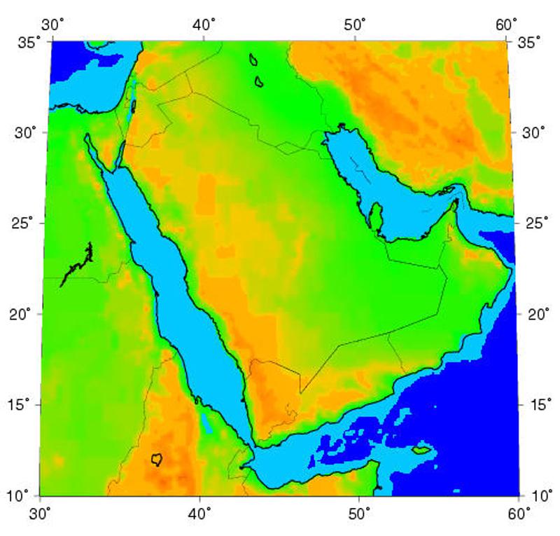 Arabian Peninsula World Map Map Arabian Peninsula
